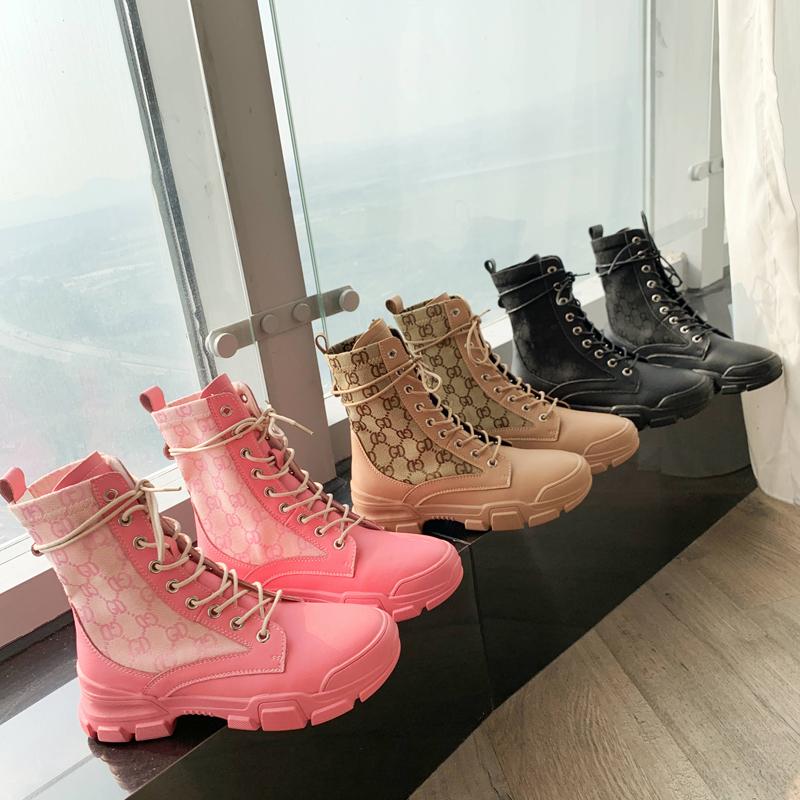 马丁靴女英伦风女鞋2019秋季新款韩版百搭厚底系带帅气平底短靴子
