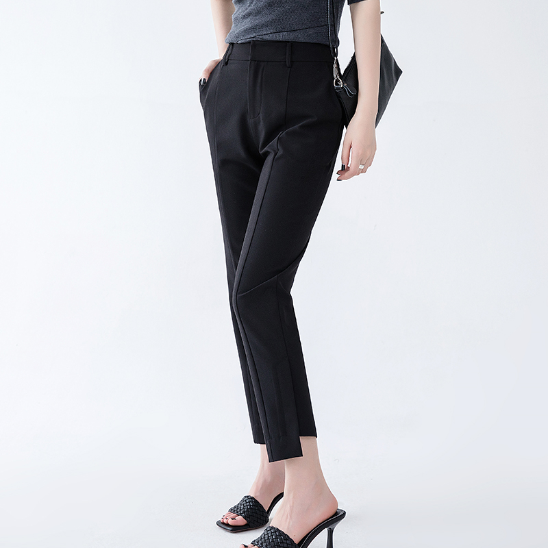 Han muxues new cropped pants summer womens thin 2020 Strapless pipe pants show thin casual suit pants tapered pants