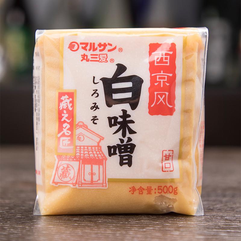 日式味噌丸三爱西京风白味增500g黄豆酱豚骨拉面调味料裙带味增汤