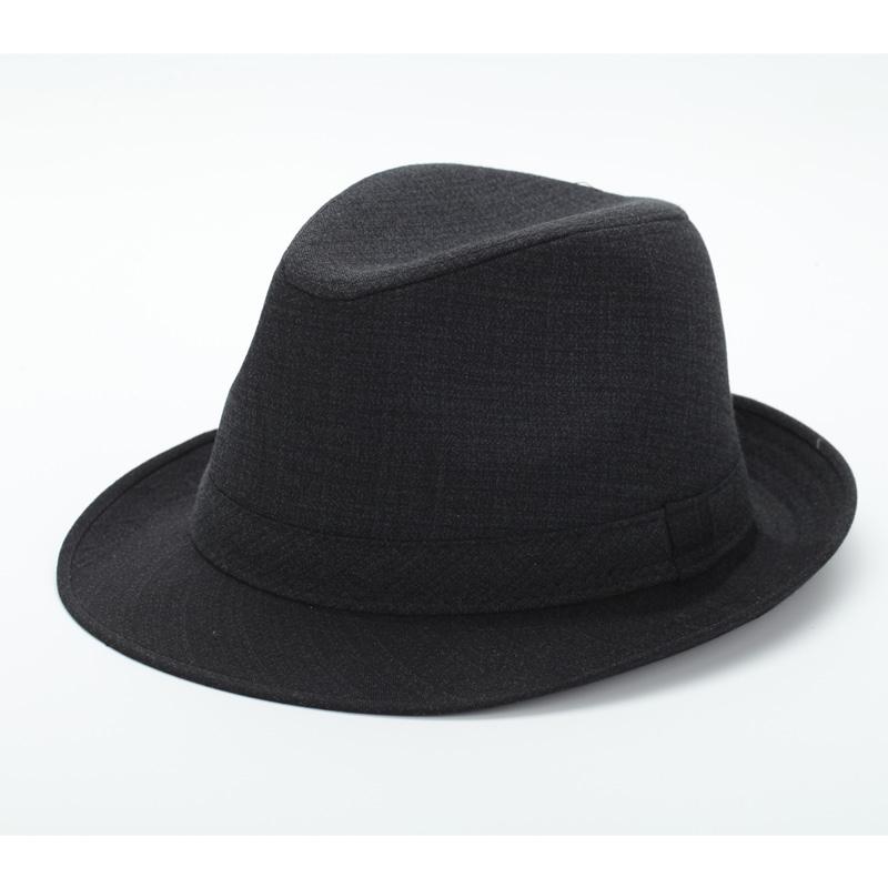 礼帽男老年人帽子冬天爷爷爸爸老头冬季毛呢保暖西服布中年爵士帽