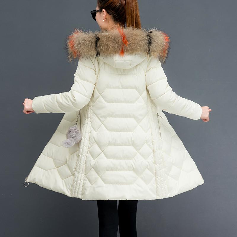 2020冬季新款韩版中长款羽绒棉服