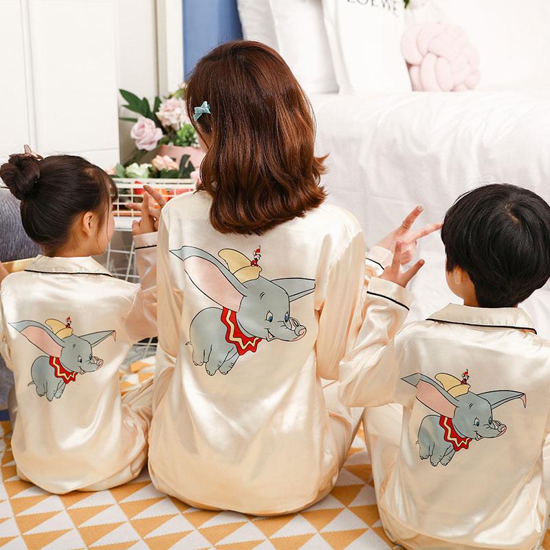 亲子装母女儿童冰丝女童夏季空调服(非品牌)