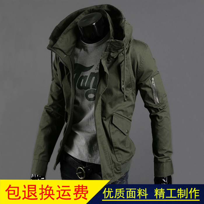 Rogue coat underworld mens wear in cold weather big collar thug rascal jacket in autumn and winter