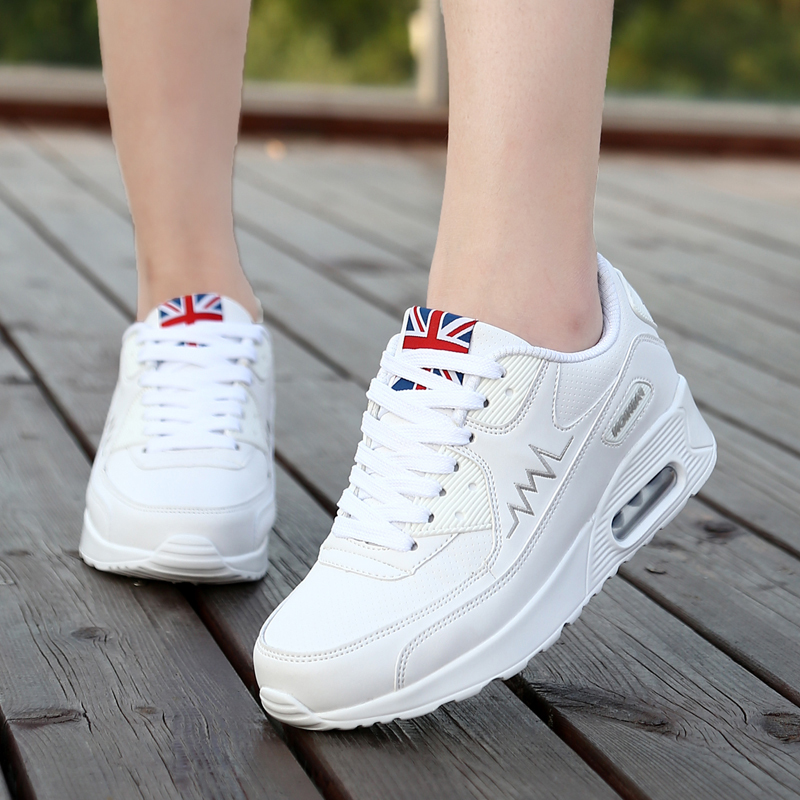 Huili kangta student wave shoes small white shoes womens air cushion sports shoes 2018 summer new running shoes leisure shoes
