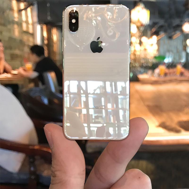 苹果x手机壳iphonex男女款潮牌防摔8x透明玻璃硅胶软壳个性创意iPhone X新款超薄全包保护套ipone网红抖音ipx
