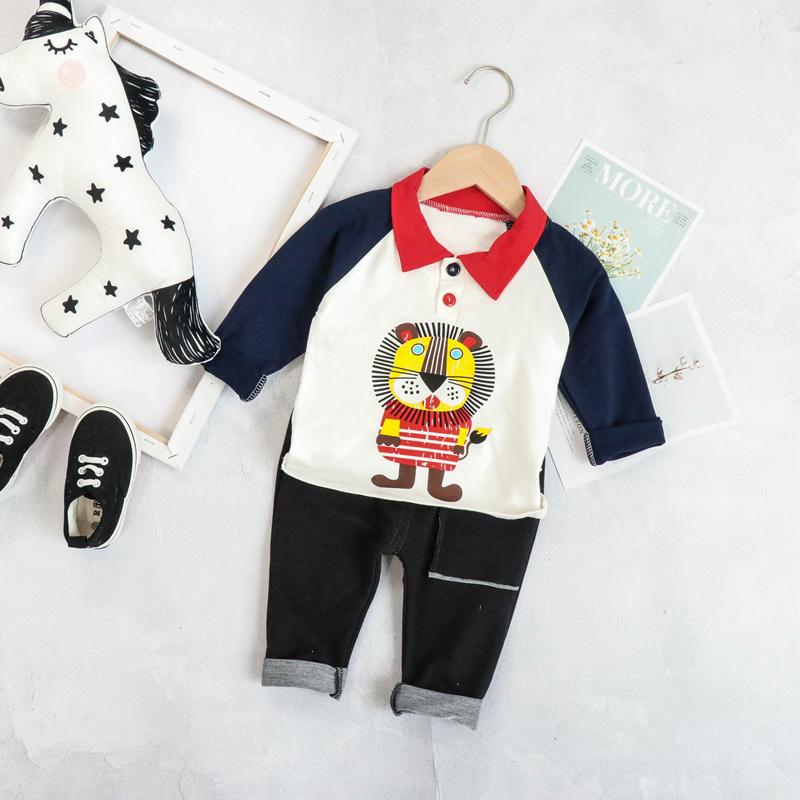 男童套装2019秋款宝宝洋气两件套儿童潮装运动装1-3-4岁帅气衣服12-01新券