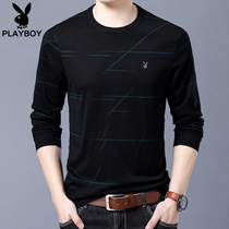 Playboy spring Fall Bottom Shirt mens neck thin sweater 2018 New Youth Korean version slimming knitwear