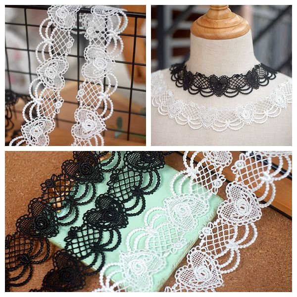 Sewing lace garment accessories Qipao water soluble Necklace accessories DIY lace polyester Japanese version Lolita lace