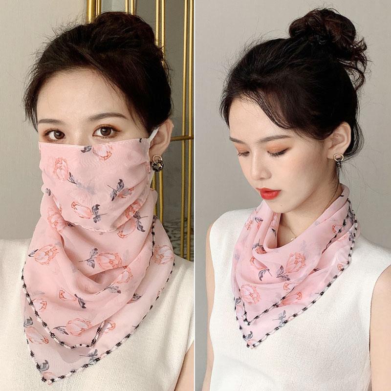 防晒面纱女夏季面罩脸罩全脸罩面部遮脸薄款遮阳口罩脖子护颈挂耳