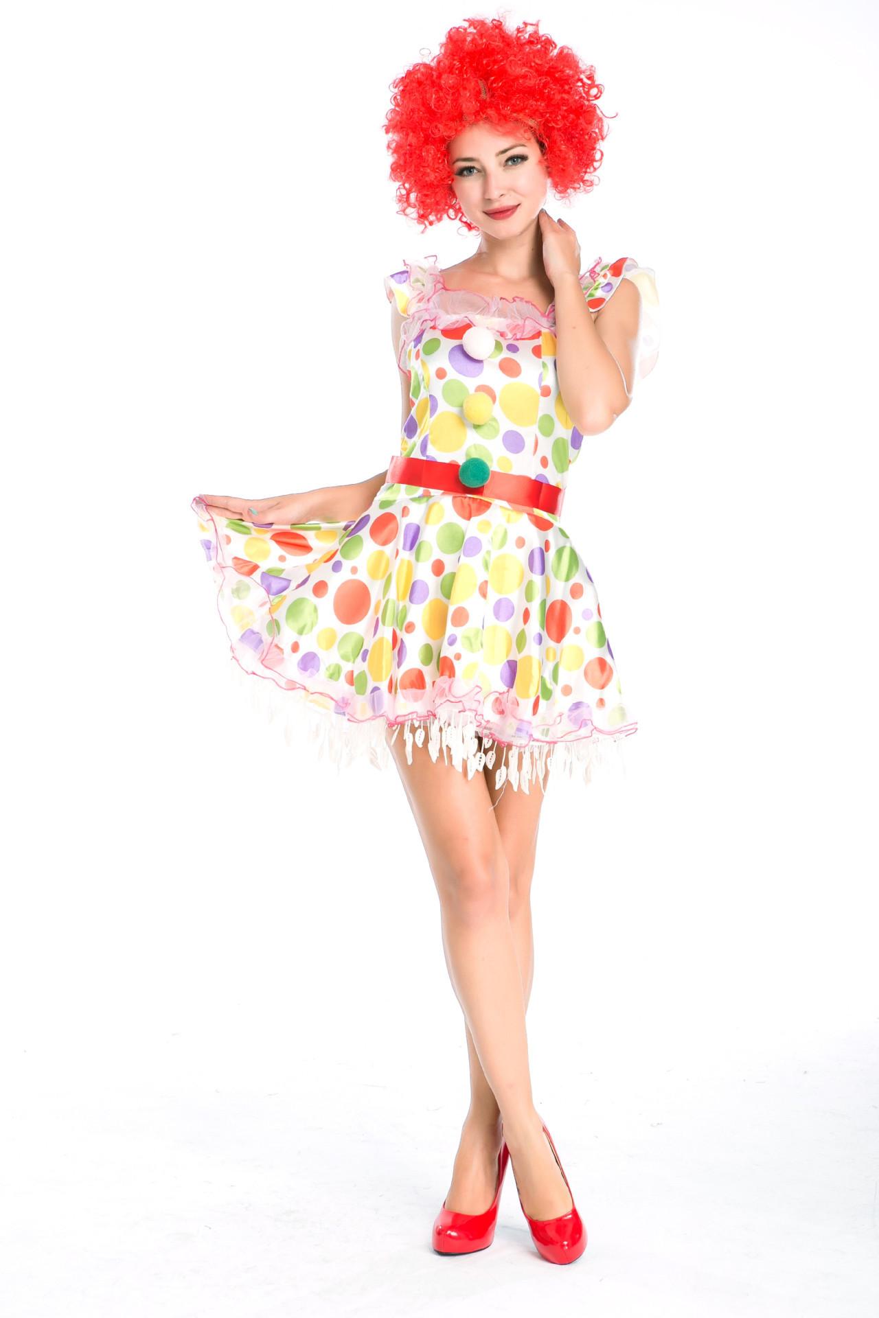 马戏团小丑角色扮演服卡通服配假发迪尼斯cosplay服万圣节服