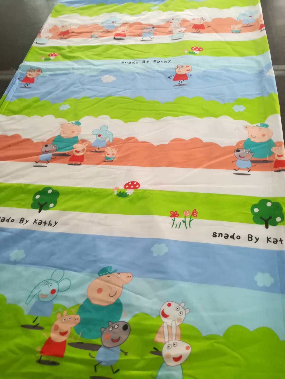 Чистый хлопок косой принт Ткань принята плафон Настроить все виды 3 накладки 4 предмета Проведение школьного детского сада один
