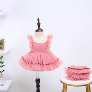 女童网红套装婴儿生日公主裙周岁礼服蓬蓬裙女宝宝一岁洋气两件套