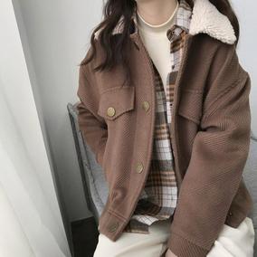 韩版宽松小个子呢子外套毛呢大衣