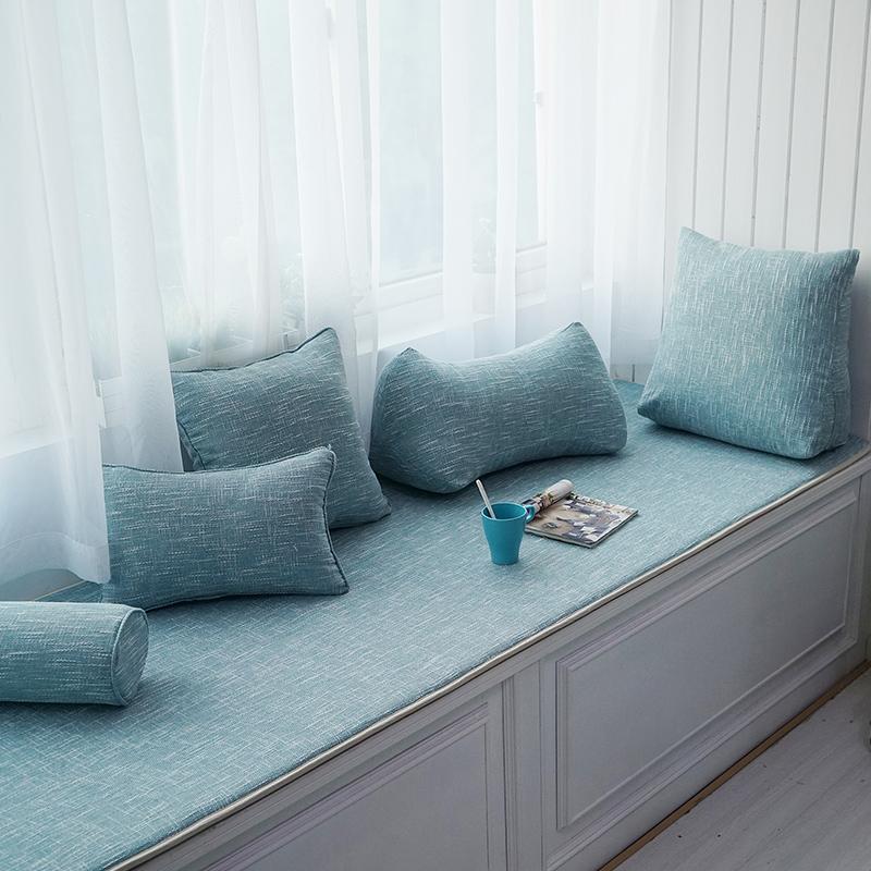 Простой твердый окно тайвань подушка декоративный коврик эркер подушка тонкая модель четыре сезона скольжение иностранец татами подушка подушка стандарт