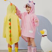 儿童雨衣男童女童斗篷小学生3岁2宝宝雨披幼儿园恐龙雨衣雨鞋套装