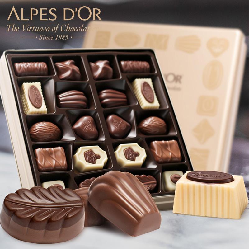 比利时进口夹心巧克力礼盒装,送女友情人节生日礼物