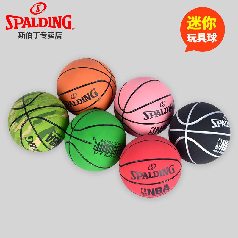 斯伯丁篮球迷你篮球模型儿童篮球玩具办公室桌面摆件橡胶51-161