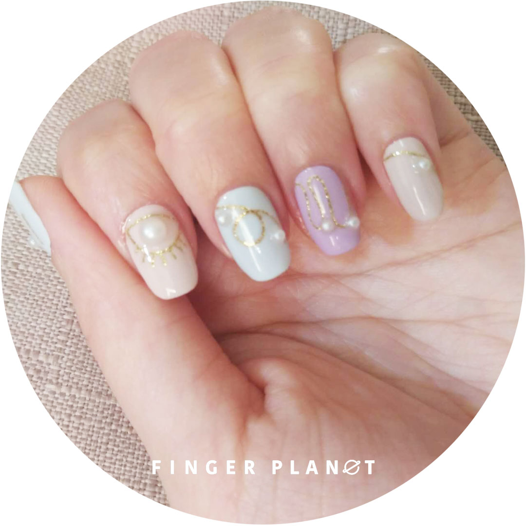 Refers to planet finderplanet nail polish film / nail polish sticker / nail polish sticker pearl eye
