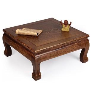 红木家具 鸡翅木中式正方套四小茶几炕几飘窗桌 大底座花架盆景架价格