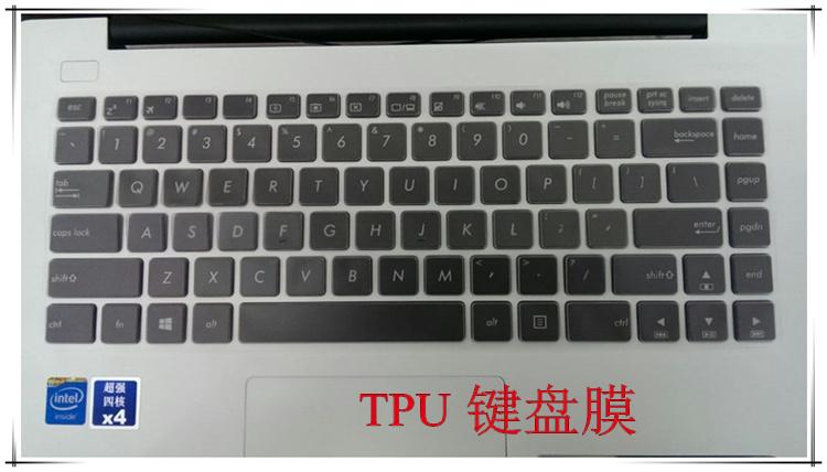 华硕R417S键盘保护贴膜14英寸电脑笔记本全覆盖防尘透明可爱套罩彩色凹凸硅胶卡通配件周边按键护非发光夜光