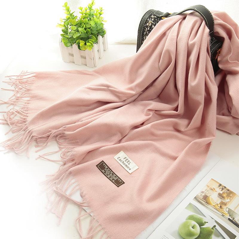 披肩冬季女外搭仿羊绒纯色婚纱新娘加厚保暖伴娘服姐妹团礼服围巾