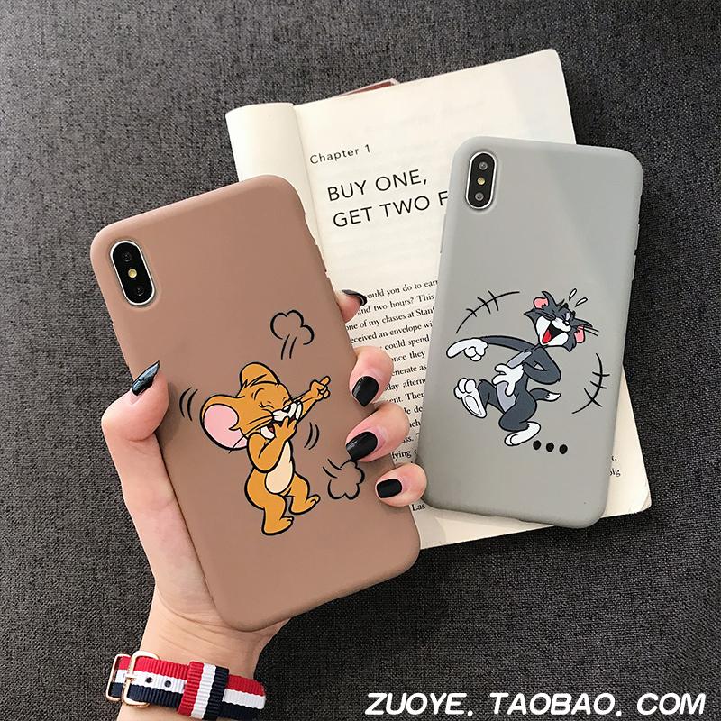 猫和老鼠小米6x手机壳8se青春版5x/note3卡通情侣女款mix2s硅胶潮券后9.90元