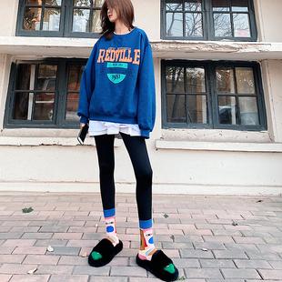 秋冬襪子女ins潮百搭中筒襪日韓學院風長筒堆堆襪街頭運動長襪潮