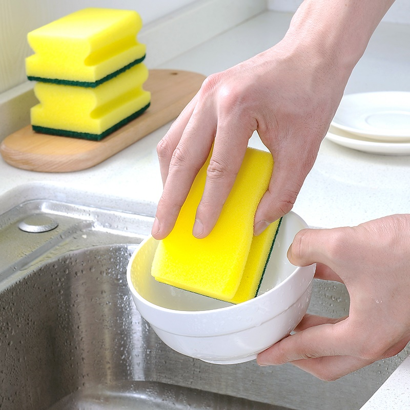 I-shaped cleaning sponge, thickened household cleaning cloth, kitchen utensils, strong decontamination, dishwashing cloth and washing pot