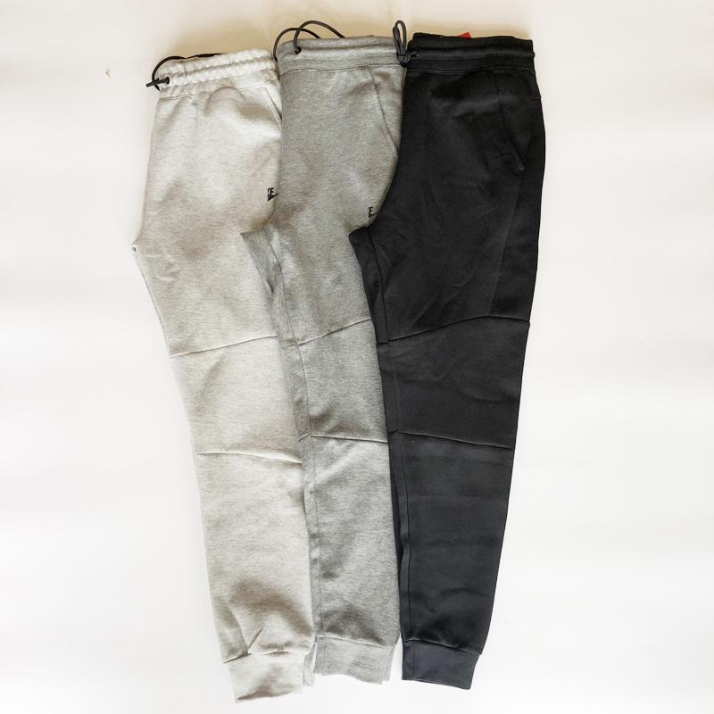 805现货春秋男士新款耐磨压胶拉链空气层棉运动裤收腿休闲长裤163