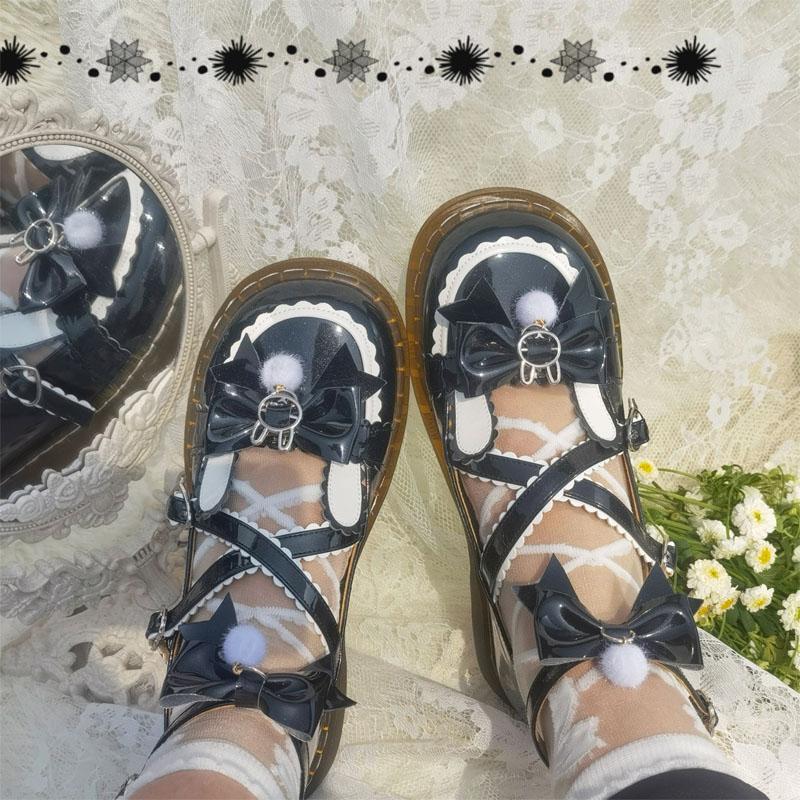 Barbie rabbit original Lolita Japanese round head girl lovely big head shoes JK uniform versatile Lolita womens shoes