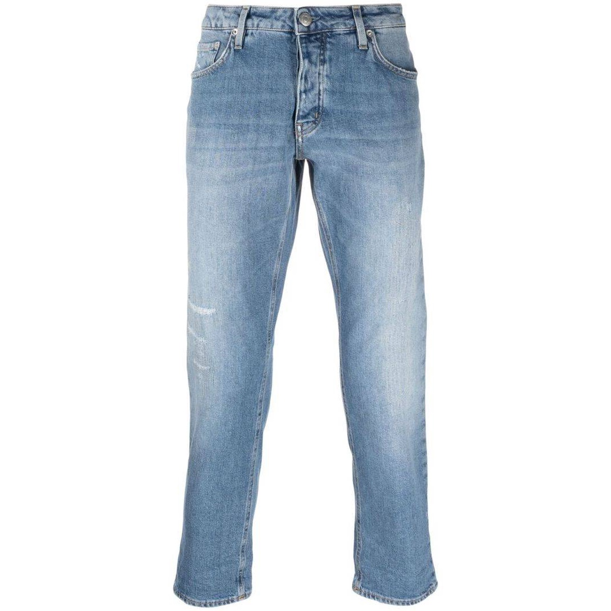 Purchasing haikure middle waist ankle exposed jeans 2021 new luxury pants trend imitation old simple fashion