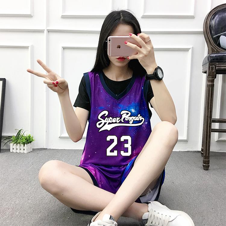 券后55.00元ins风星空紫女款背心定制篮球服