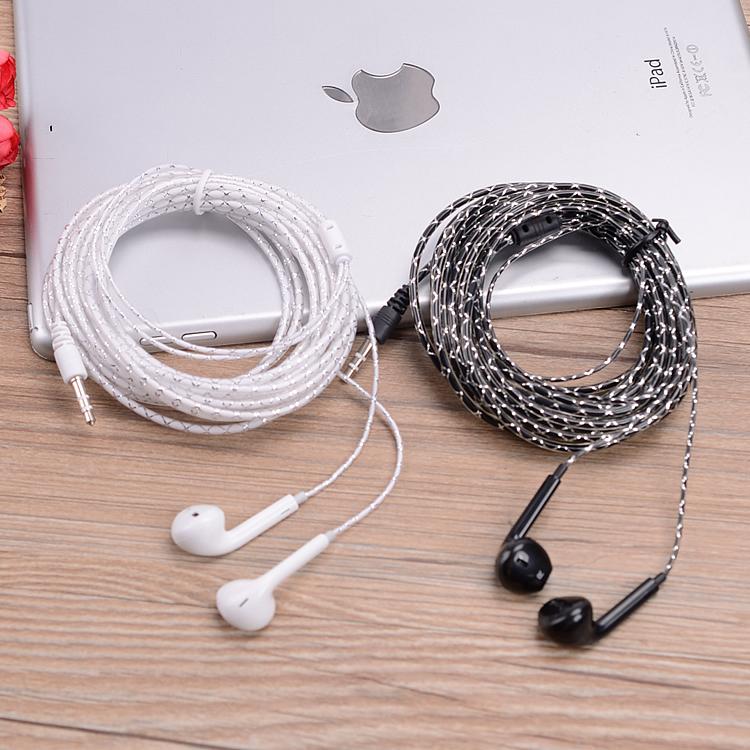 2米3米4米水晶线加长线耳机低音耳塞式手机电脑电视声卡主播耳机