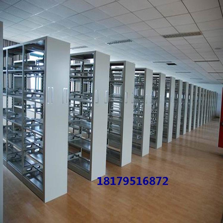 拆装全钢双面六层学校阅览室图书馆书架资料架移动书报柜杂志架