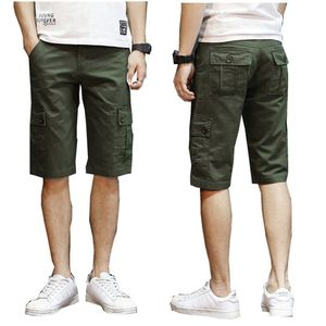夏季纯棉工装裤男短裤薄款七分中裤