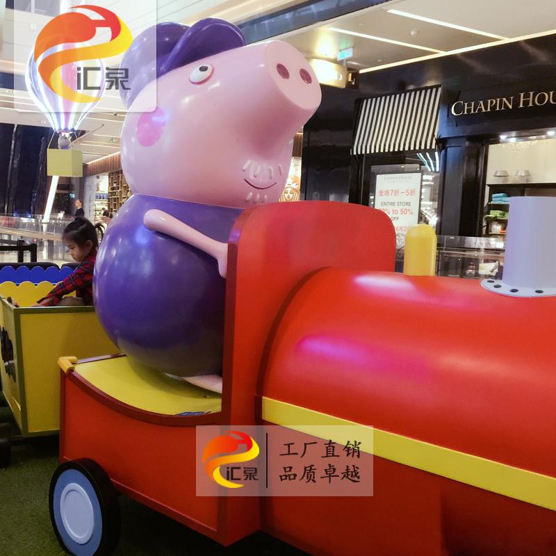 FRP скульптура Свинья Свинья мультфильм мультфильм украшения крытый украшение торговый центр наружная красота искусств и ремесел настройки
