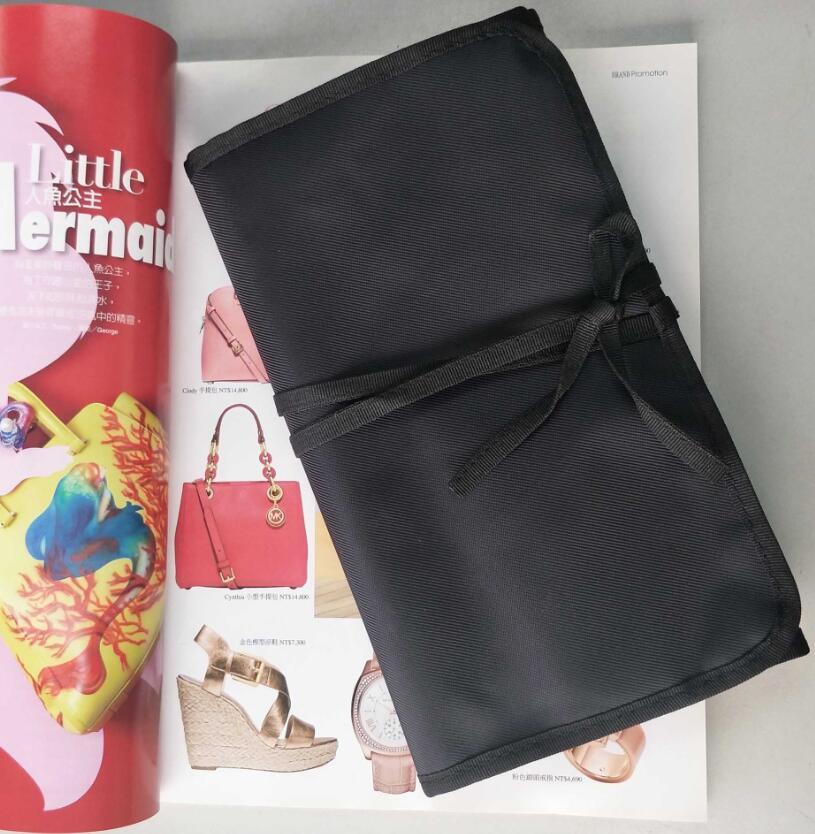 外贸原单质感大尺寸尼龙眉刷包13孔化妆包化妆便携式工具包彩妆包