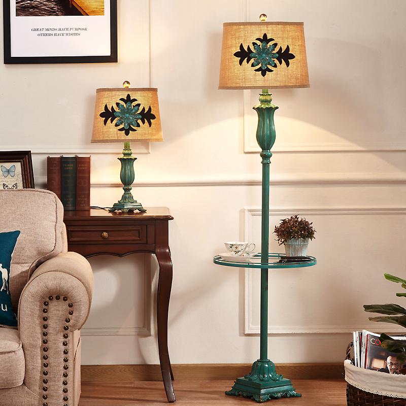 热销141件假一赔三美式落地灯客厅欧式复古卧室台灯