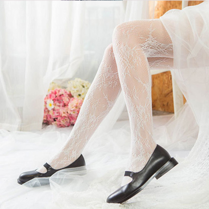 Japanese net red ins lace bottomed pantyhose lovely Lolita pantyhose Autumn Fairy bottomed pantyhose