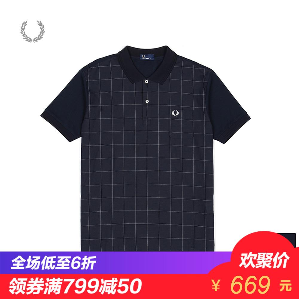 FRED PERRY男装POLO衫简约时尚潮流印花logo翻领短袖T恤1632XM8