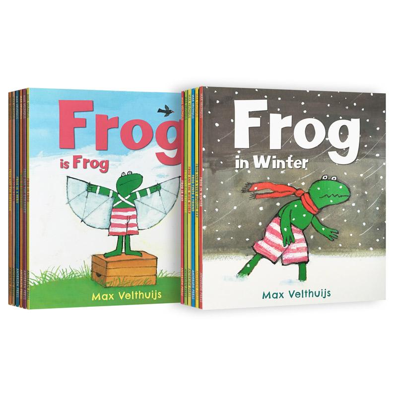 套装英文原版Frog is Frog 青蛙弗洛格的成长故事 (全12册套装)睡前故事绘本
