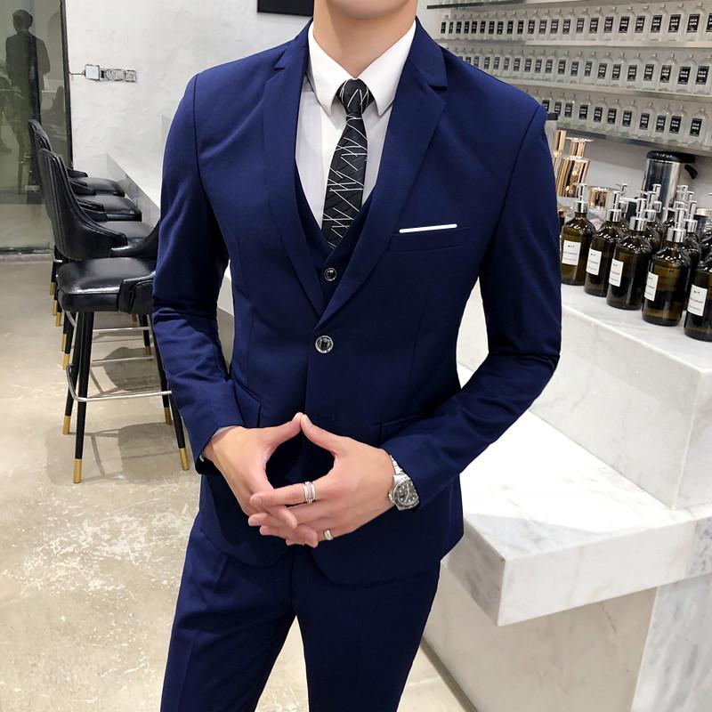 [manufacturer direct sales, big seller push] two button suit Navy 3 mens three piece set 518p145
