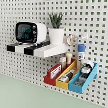 创意免打孔手办盲盒置物架收纳盒墙上展示列架隔板陈(单拍不发货)