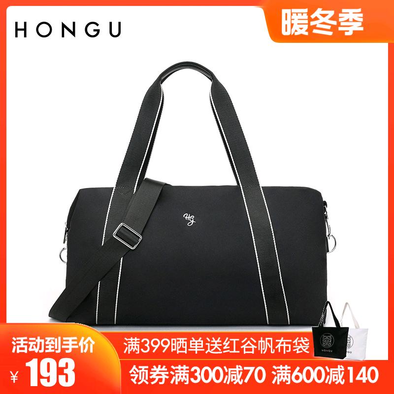 新款大容量轻便旅行包休闲账动健身包包单肩斜挎包2020红谷手提袋
