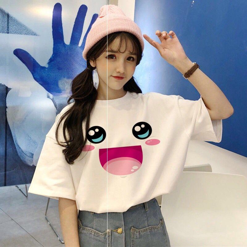 2020年新款夏季白色短袖T恤女装纯棉宽松韩版学生ins潮半袖上衣服