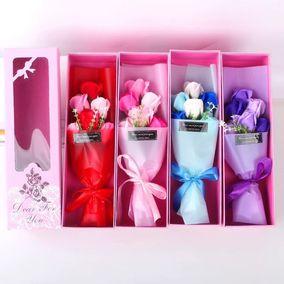 幼儿园教师节创意玫瑰香皂花束礼盒送男女生老师闺蜜友情生日礼物
