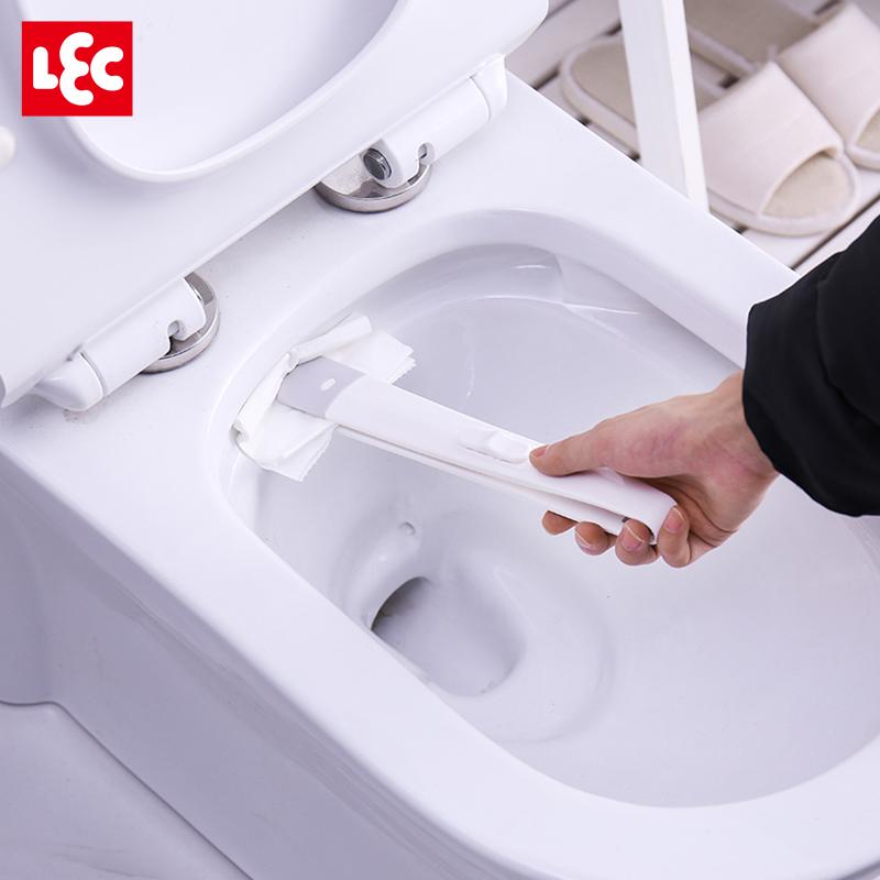 限时抢购日本LEC卫生间厕所缝隙刷子套装家用长柄去死角清洁夹刷马桶神器