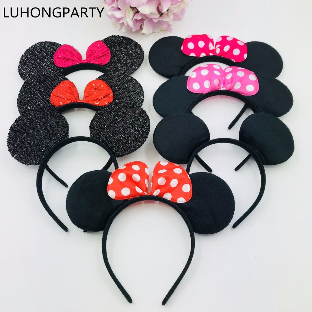 -Minnie1pcsEarsMickey AccessoriesMouseHairSolid Black其他礼