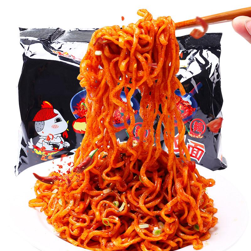 正宗火鸡面140克*5包超辣干拌面整箱批发袋装方便面国产网红泡面
