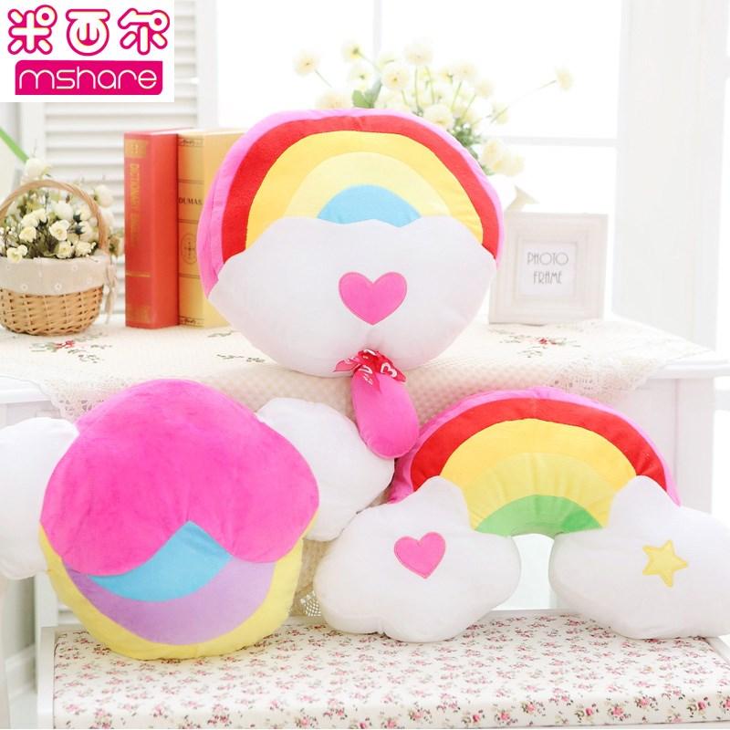 米西尔彩虹抱枕棒棒糖玩偶毛绒玩具布布娃娃创意生日礼物女生包邮
